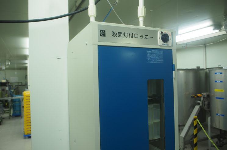 容器の外部も徹底した殺菌がされます